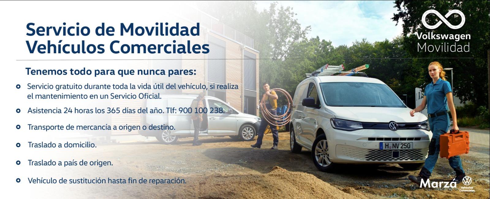 Servicio de Movilidad Volkswagen para Vehículos Comerciales