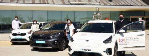 AR Motors cede tres Kia Niro electrificados al Hospital Sant Joan de Déu
